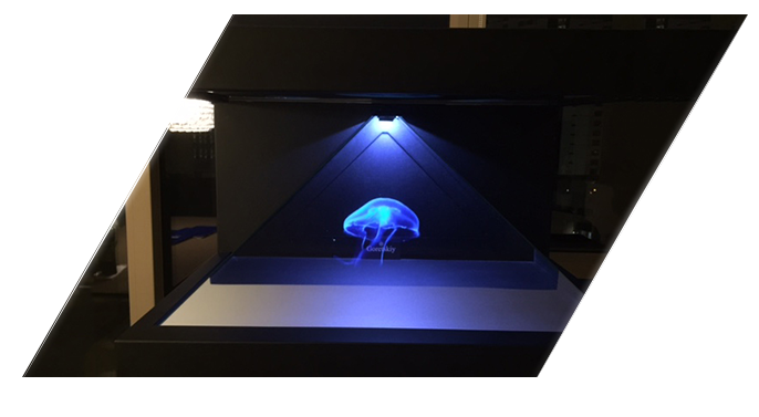 3d hologram pyramid